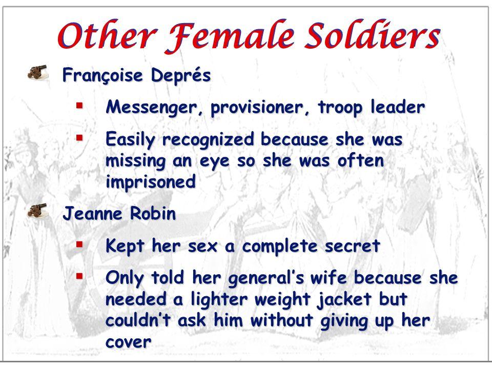 Other Female Soldiers Françoise Deprés