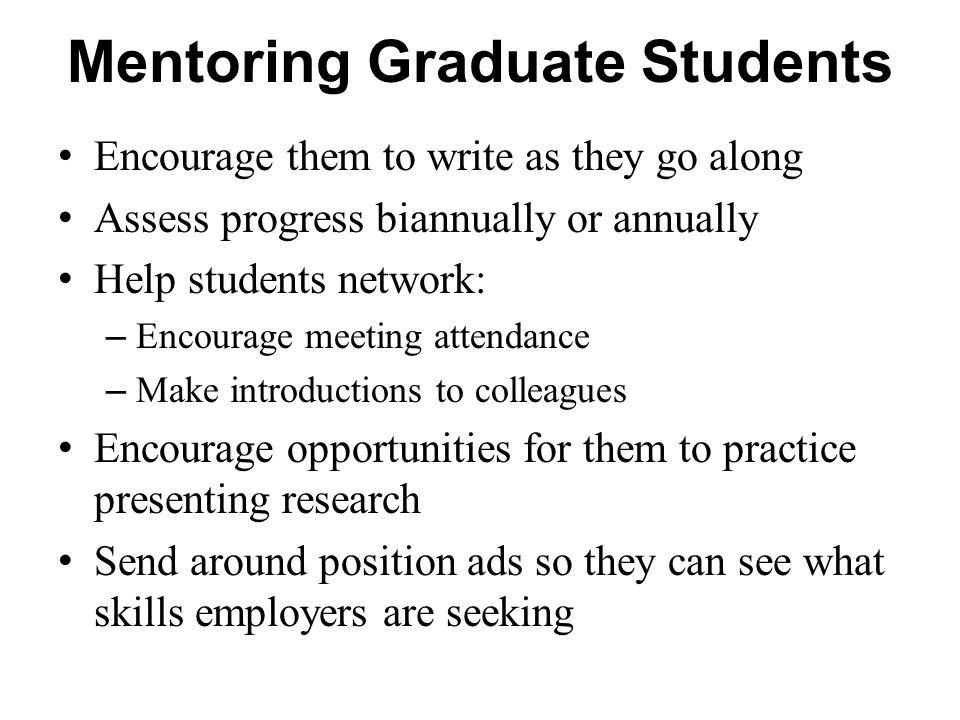 Mentoring Graduate Students