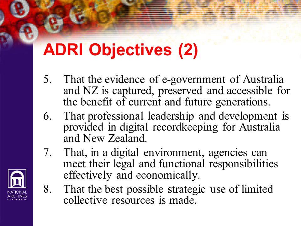 ADRI Objectives (2)