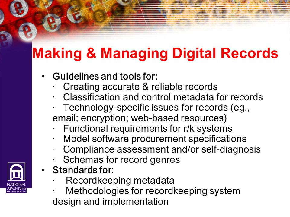 Making & Managing Digital Records