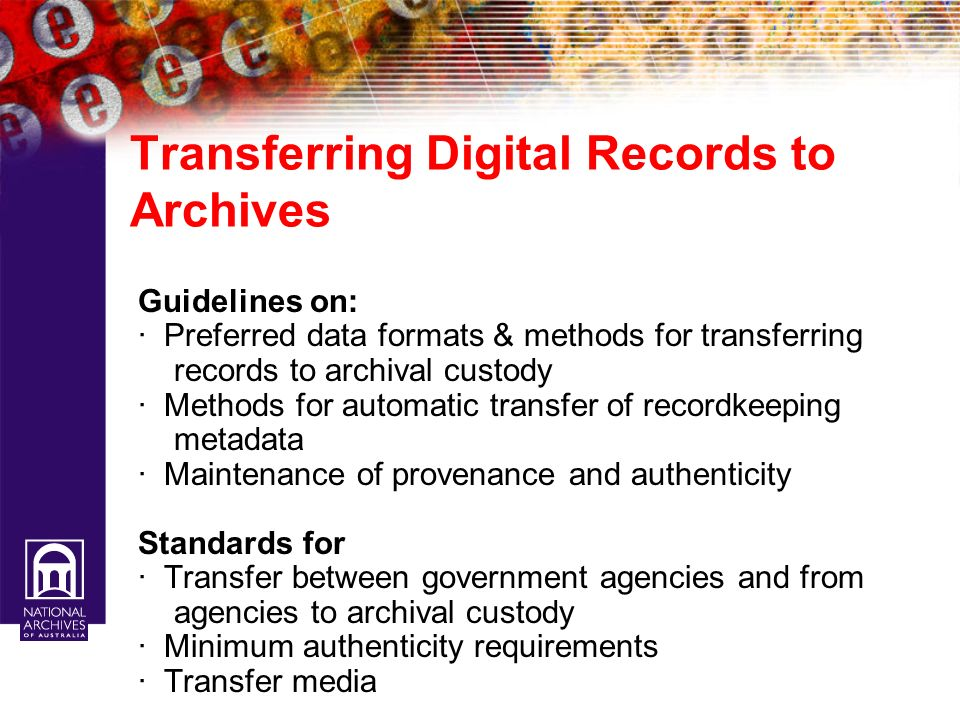 Transferring Digital Records to Archives