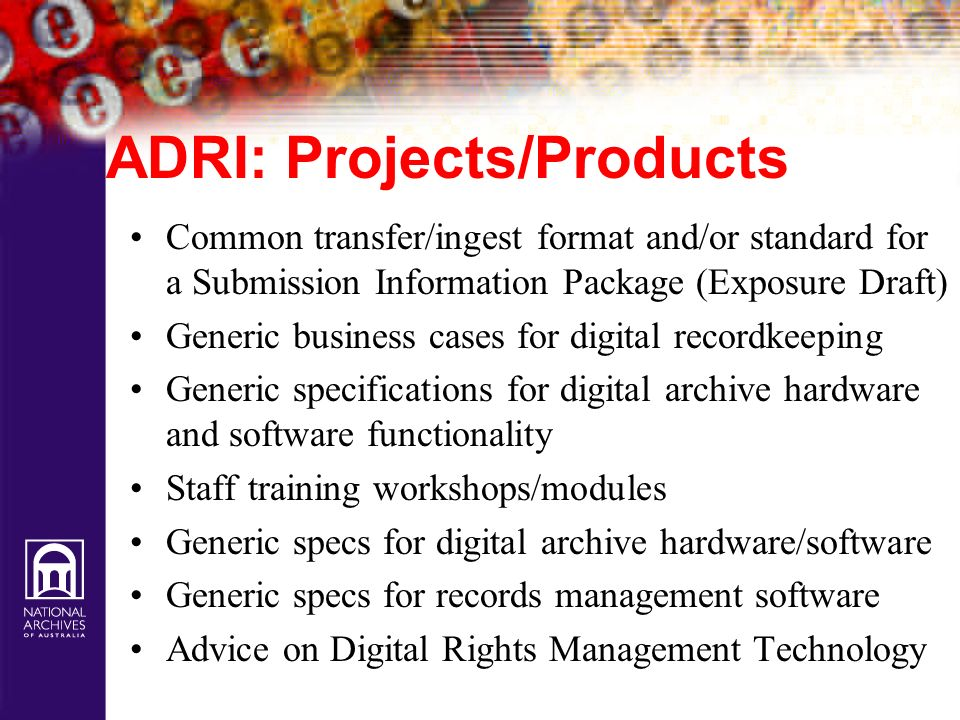 ADRI: Projects/Products
