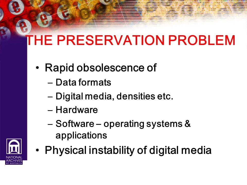 THE PRESERVATION PROBLEM