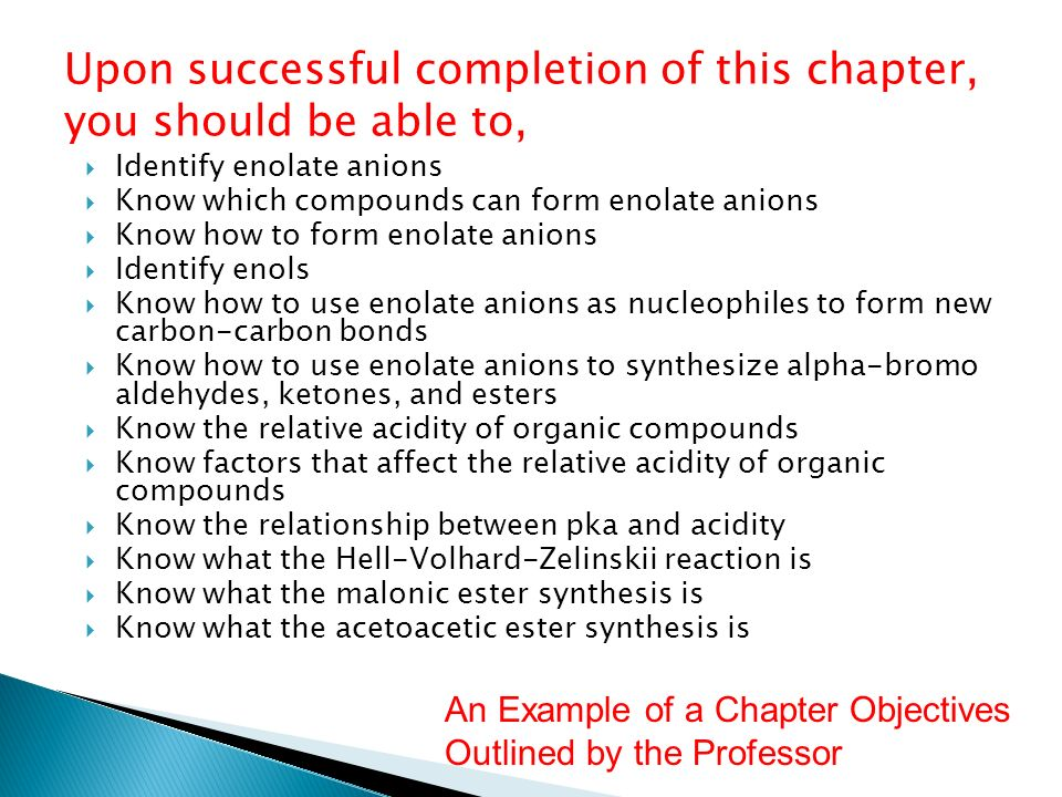 Upon successful completion of this chapter, you should be able to,