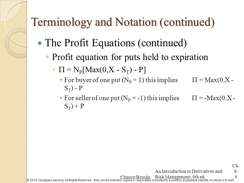 introduction to derivatives and risk management chance pdf