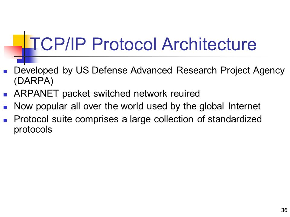a review of the tcp ip project by the department of defense in 2000 Arpanet, in full advanced research projects agency network, experimental computer network that was the forerunner of the internet the advanced research projects agency (arpa), an arm of the us defense department, funded the development of the advanced research projects agency network (arpanet) in the late 1960s.