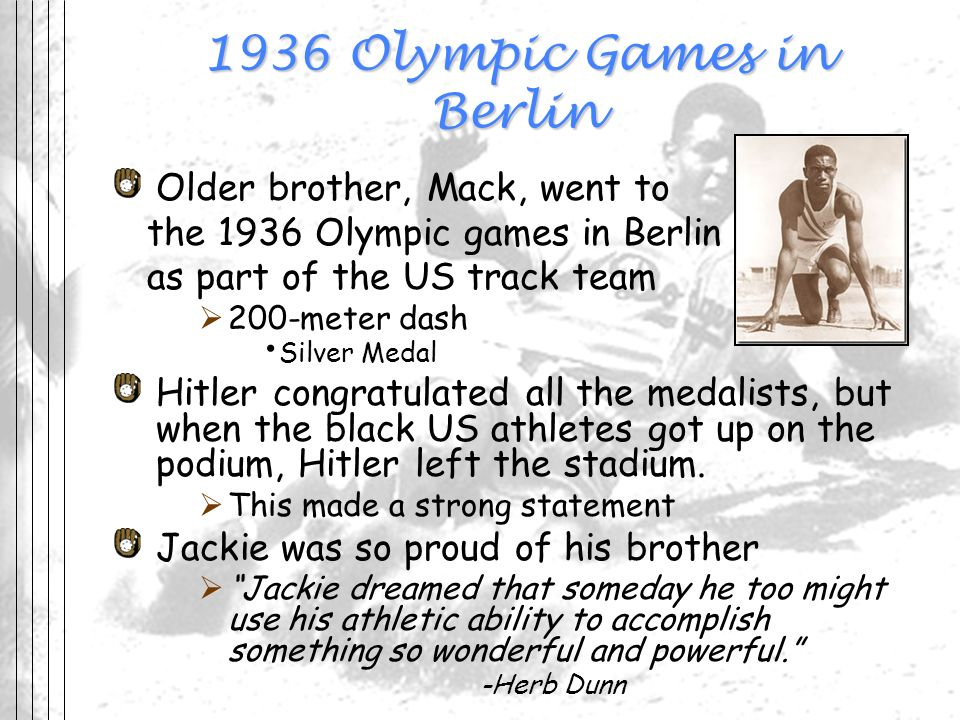 1936 Olympic Games in Berlin
