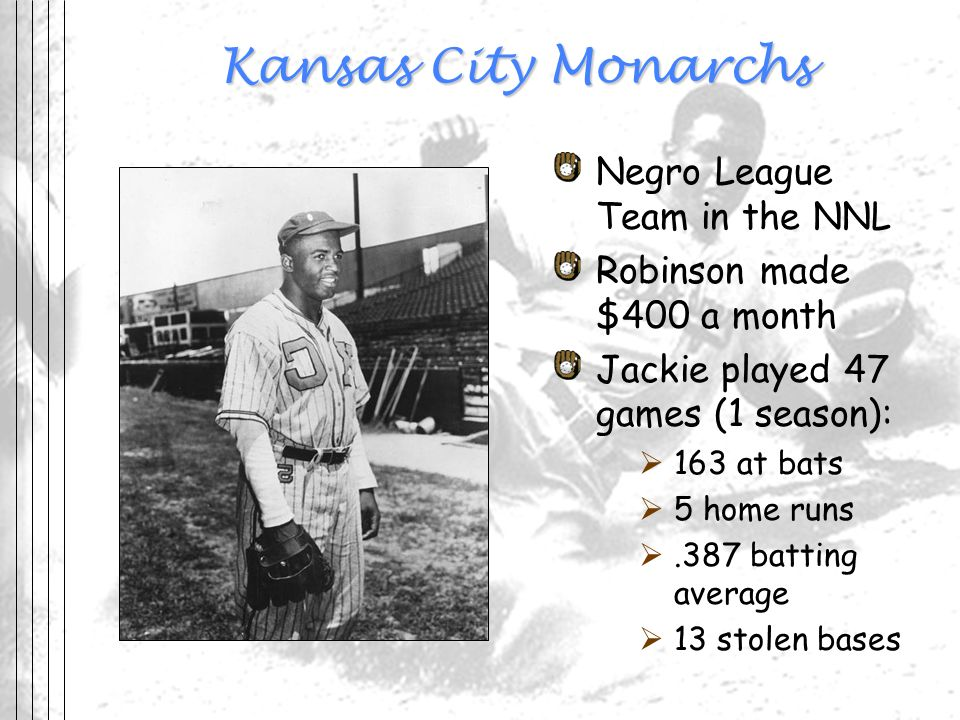 Kansas City Monarchs Negro League Team in the NNL