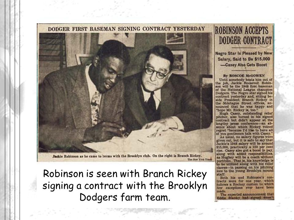 Robinson Accepts Dodgers Contract. MLBlogs. 2 June 2007 <bestblog.mlblogs.com/.../hot_stove/index.html>.
