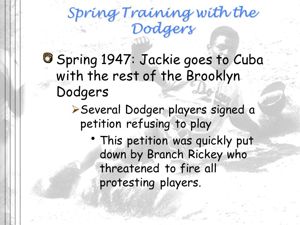 Spring Training with the Dodgers