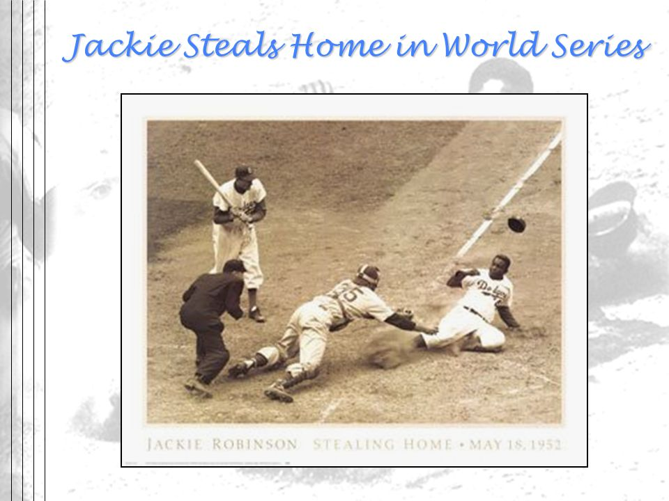 Jackie Steals Home in World Series