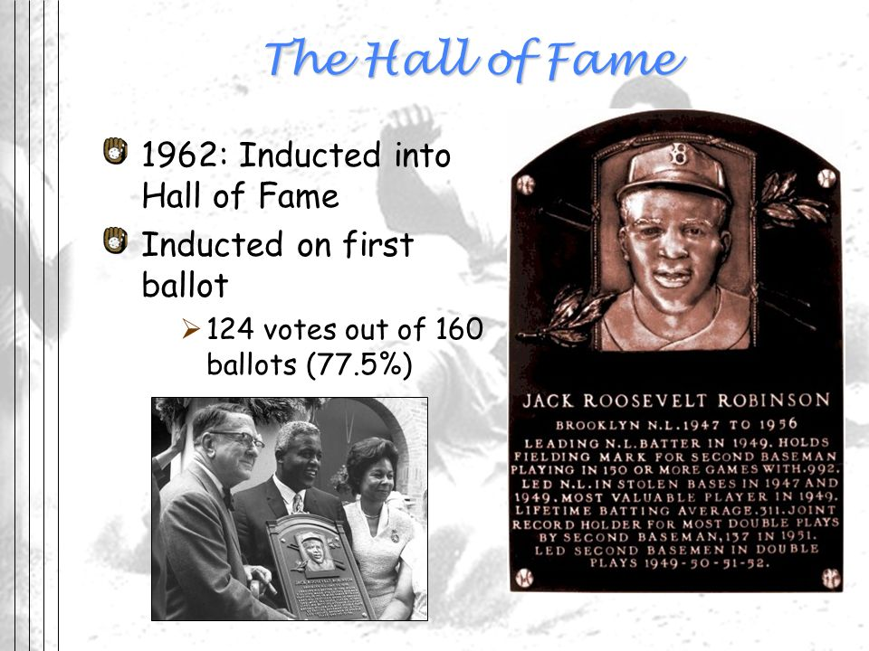 The Hall of Fame 1962: Inducted into Hall of Fame