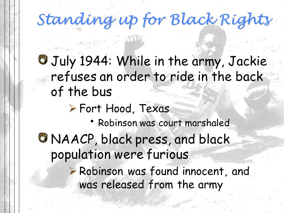 Standing up for Black Rights
