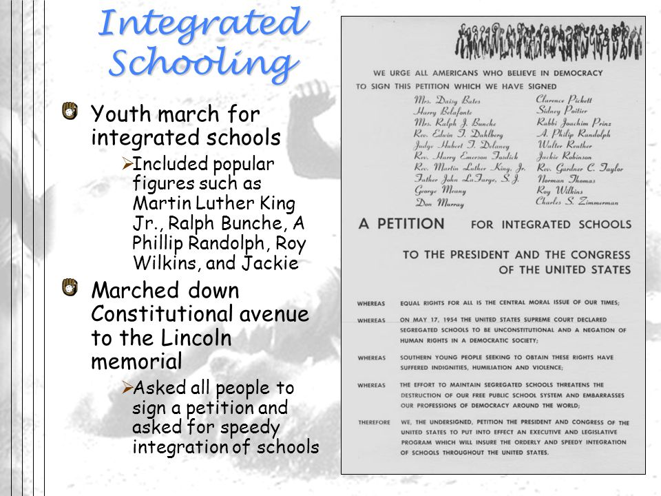 Integrated Schooling Youth march for integrated schools