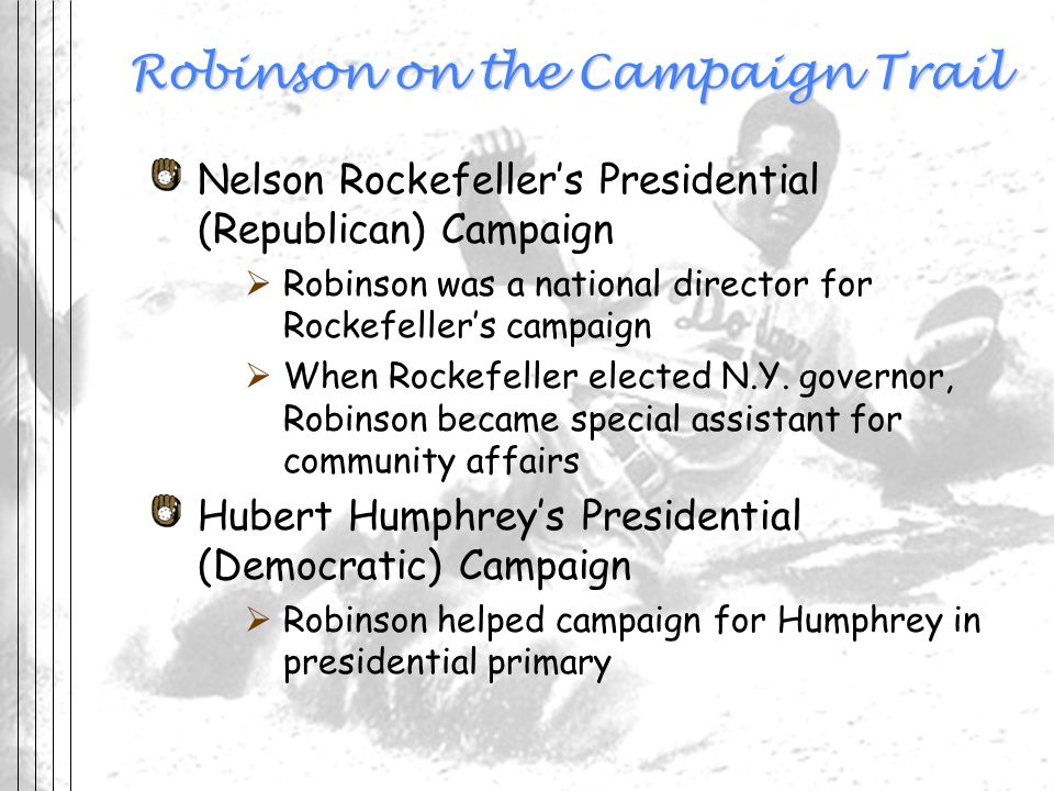 Robinson on the Campaign Trail