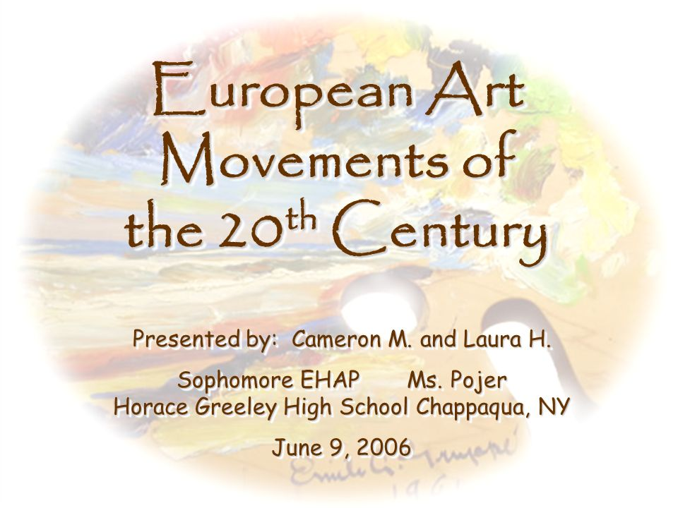 European Art Movements of the 20th Century