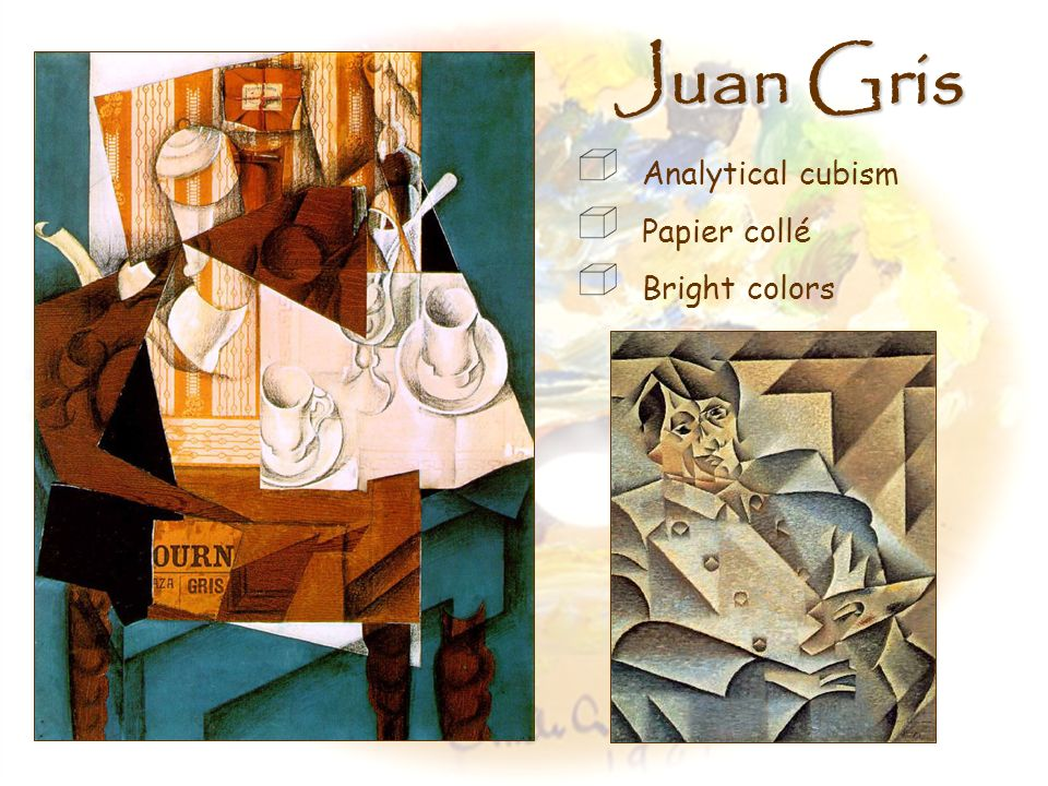 Juan Gris Analytical cubism Papier collé Bright colors