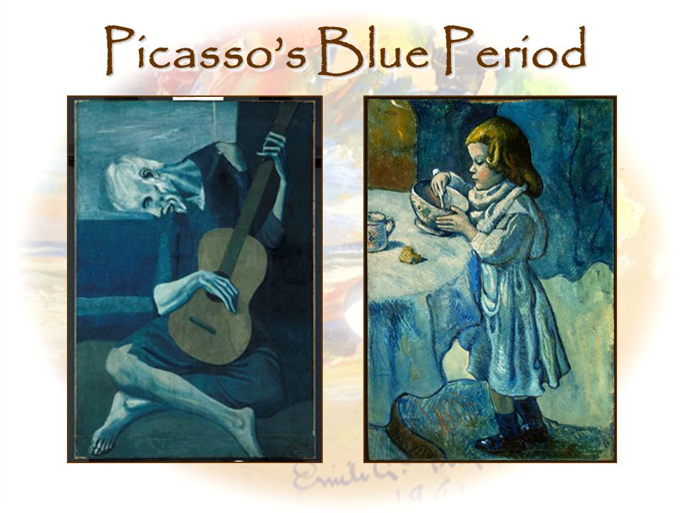 Picasso's Blue Period Left, The Old Guitarist, Pablo Picasso (1903)