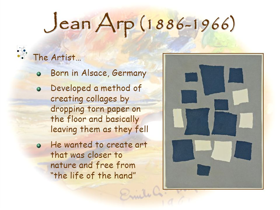 Jean Arp (1886-1966) The Artist… Born in Alsace, Germany