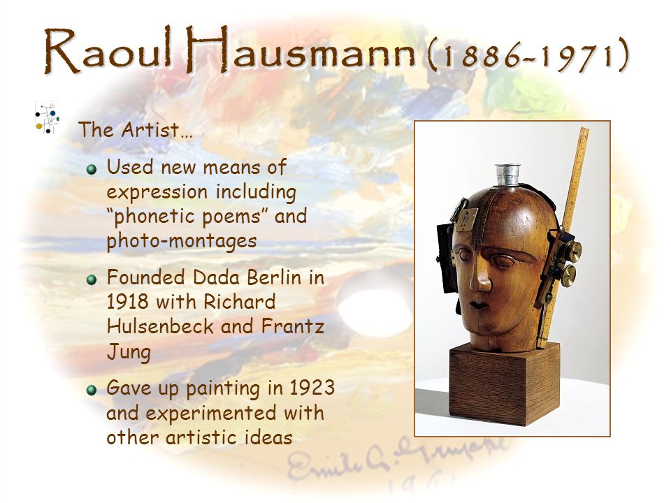 Raoul Hausmann (1886-1971) The Artist…