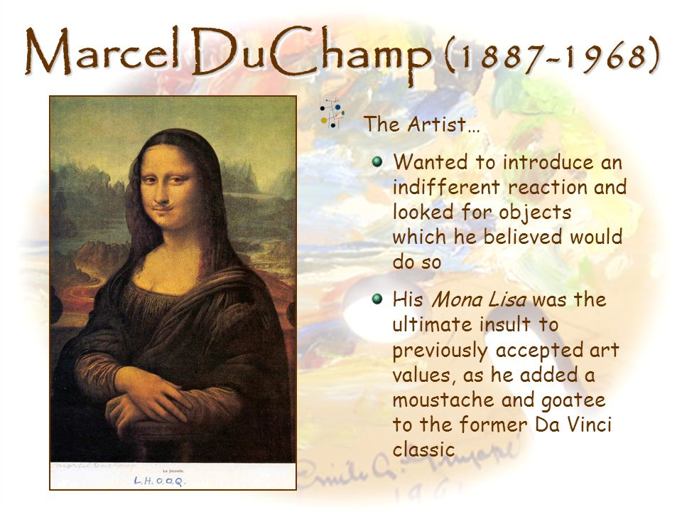 Marcel DuChamp (1887-1968) The Artist…
