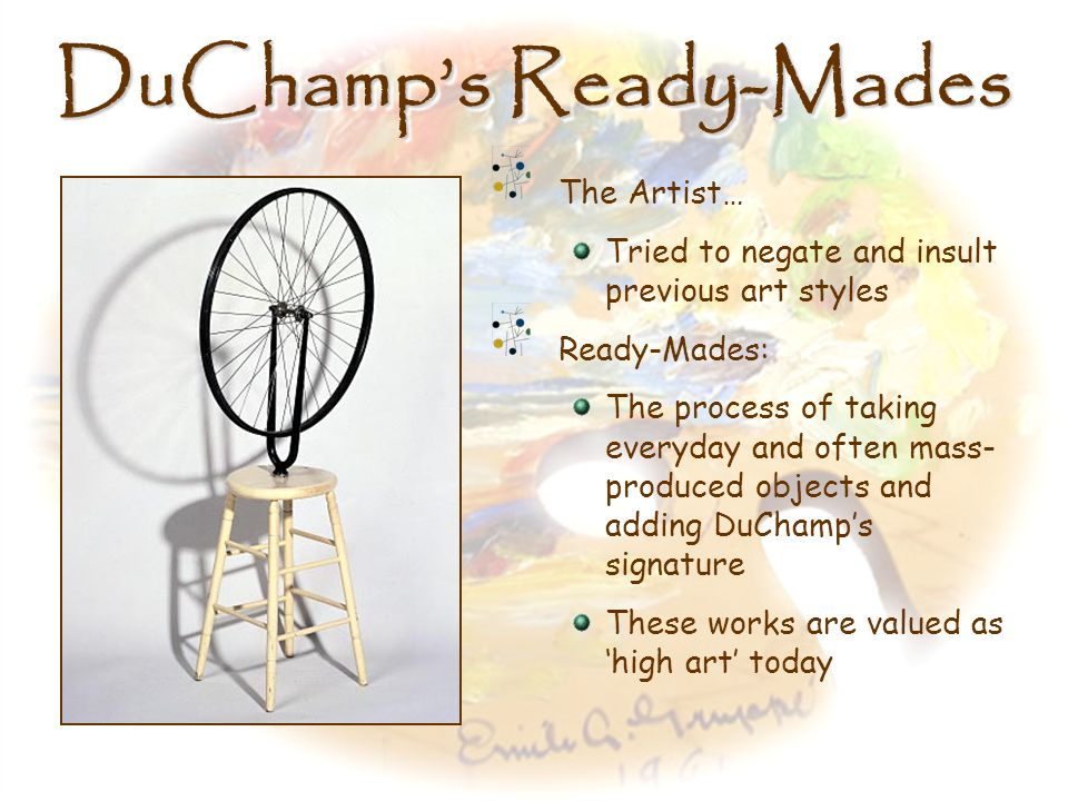 DuChamp's Ready-Mades