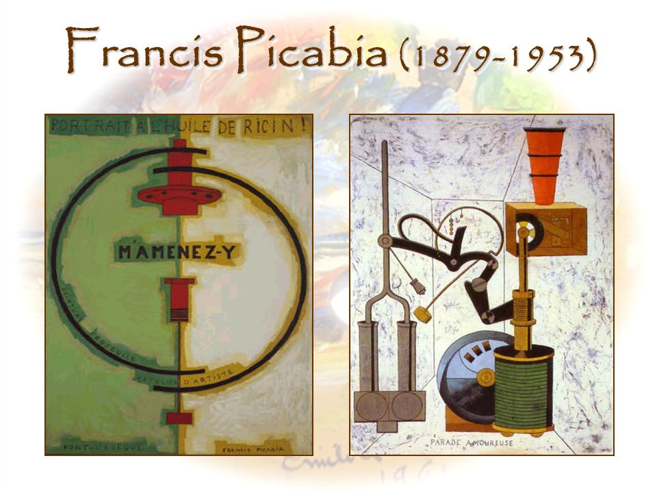 Francis Picabia (1879-1953) Left, Take Me There (M amenez-y), Francis Picabia (1919-20)