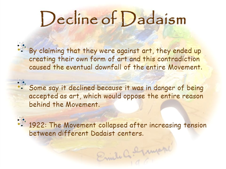 Decline of Dadaism