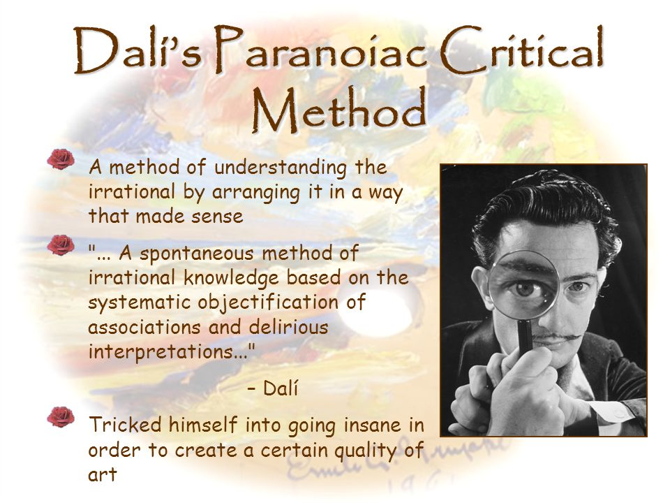 Dalí's Paranoiac Critical Method