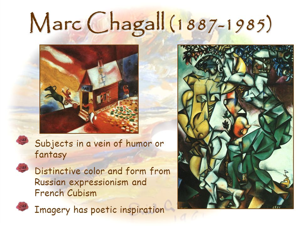 Marc Chagall (1887-1985) Subjects in a vein of humor or fantasy