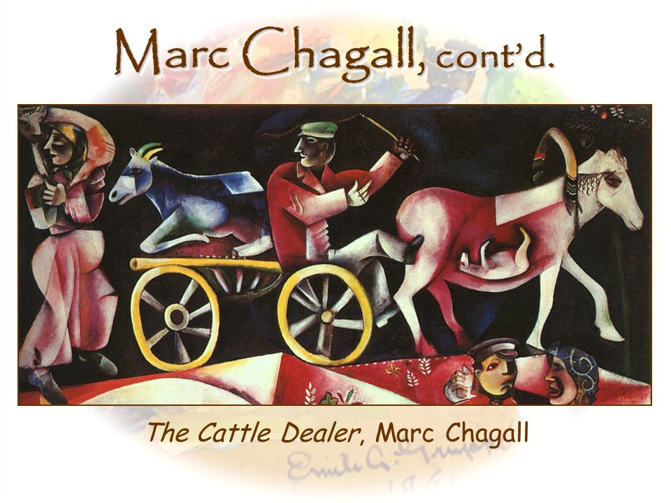 The Cattle Dealer, Marc Chagall