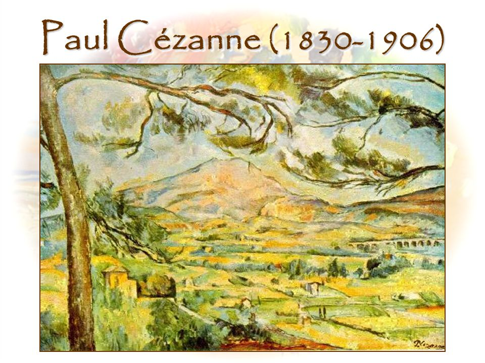 Paul Cézanne (1830-1906) Middle, Montagne Sainte Victoire, Paul Cezanne (1885) (2nd of the series)