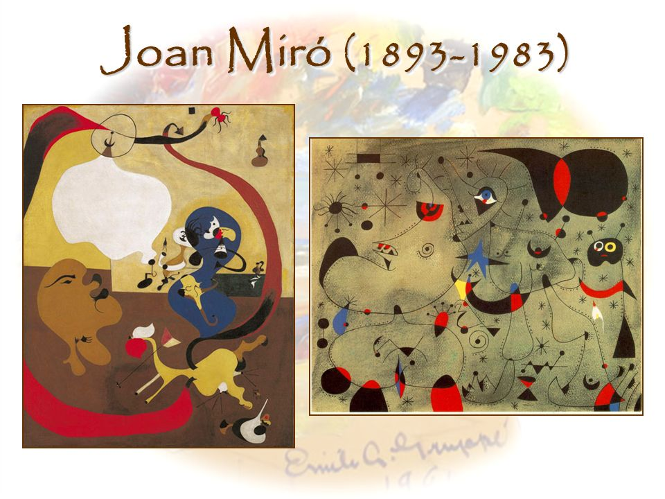 Joan Miró (1893-1983) Left, Dutch Interior II, Joan Miro (1928)