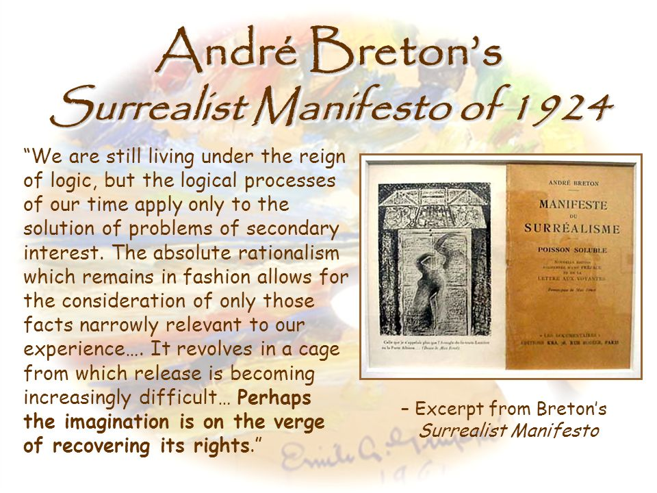 André Breton's Surrealist Manifesto of 1924