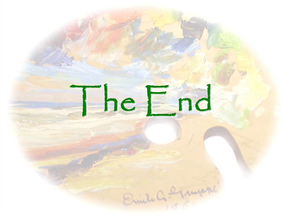 The End YAYY!