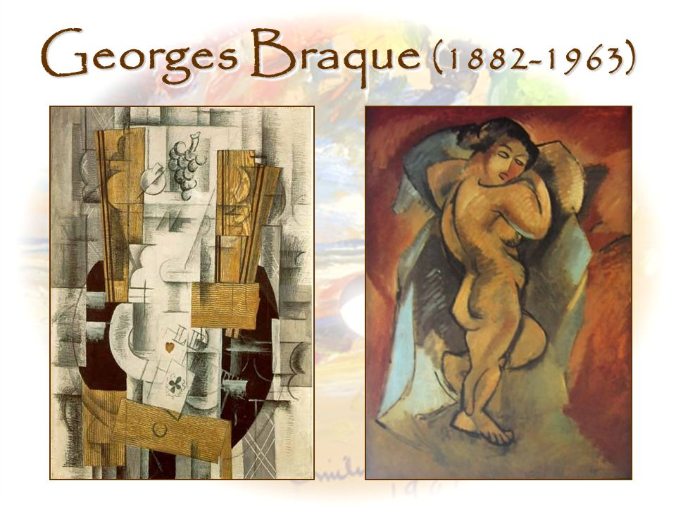 Georges Braque (1882-1963) Left, Fruit Dish With Cards, Georges Braque (1908)