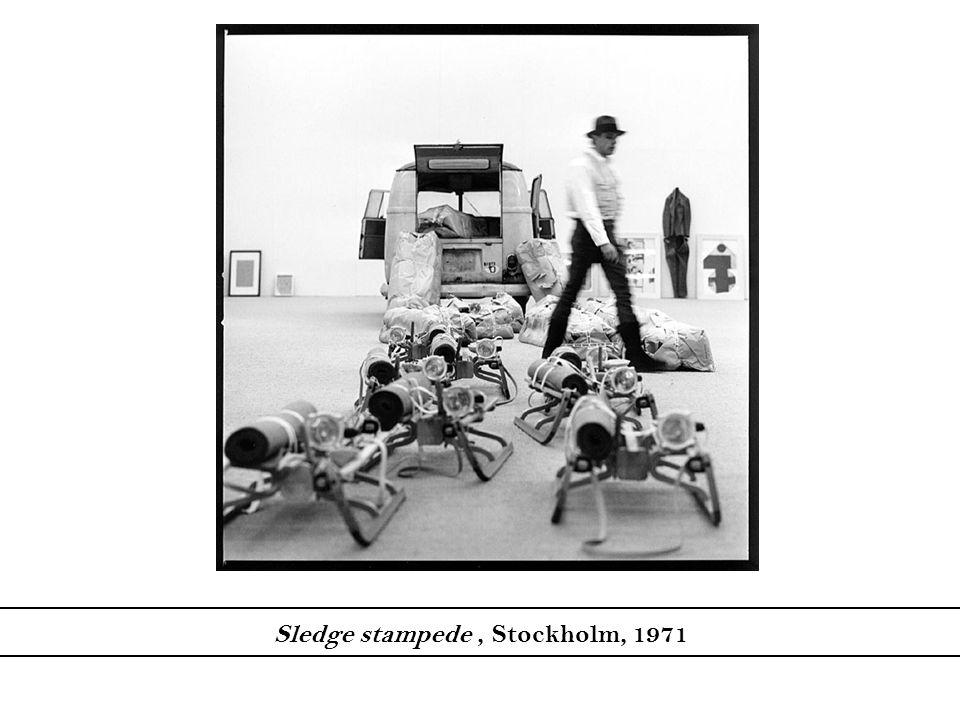 Sledge stampede , Stockholm, 1971
