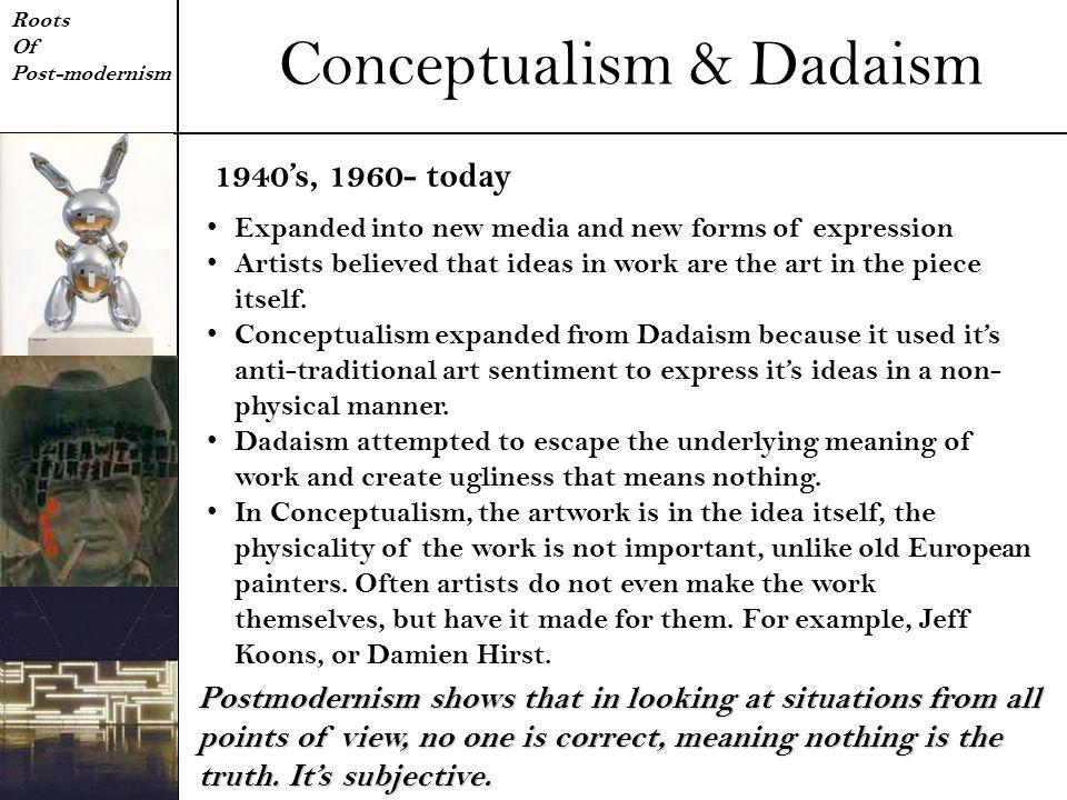 Conceptualism & Dadaism