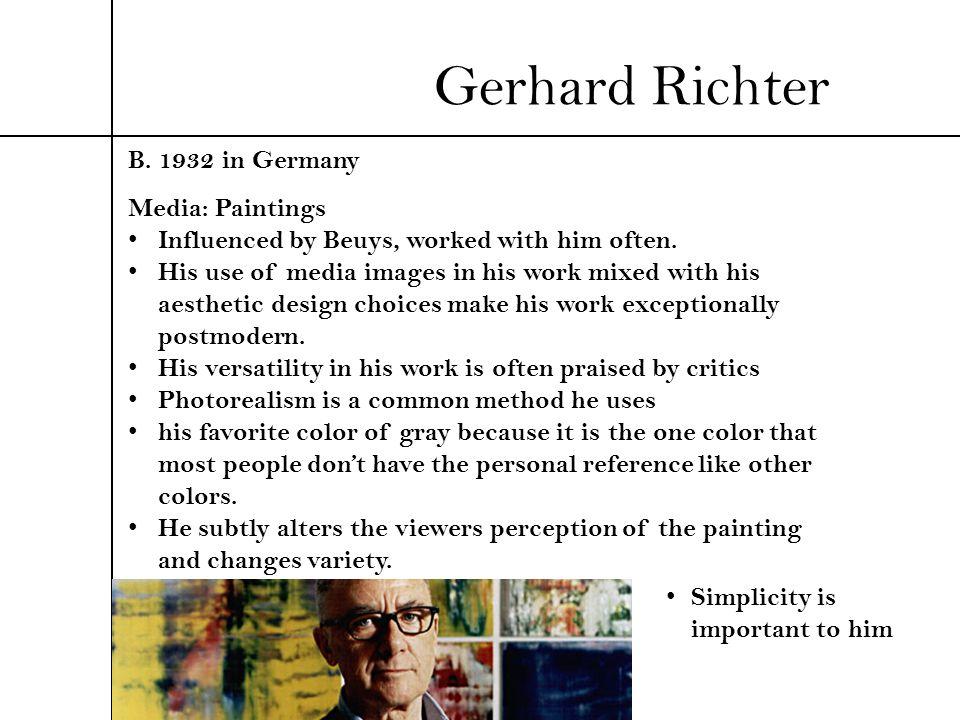Gerhard Richter B. 1932 in Germany Media: Paintings
