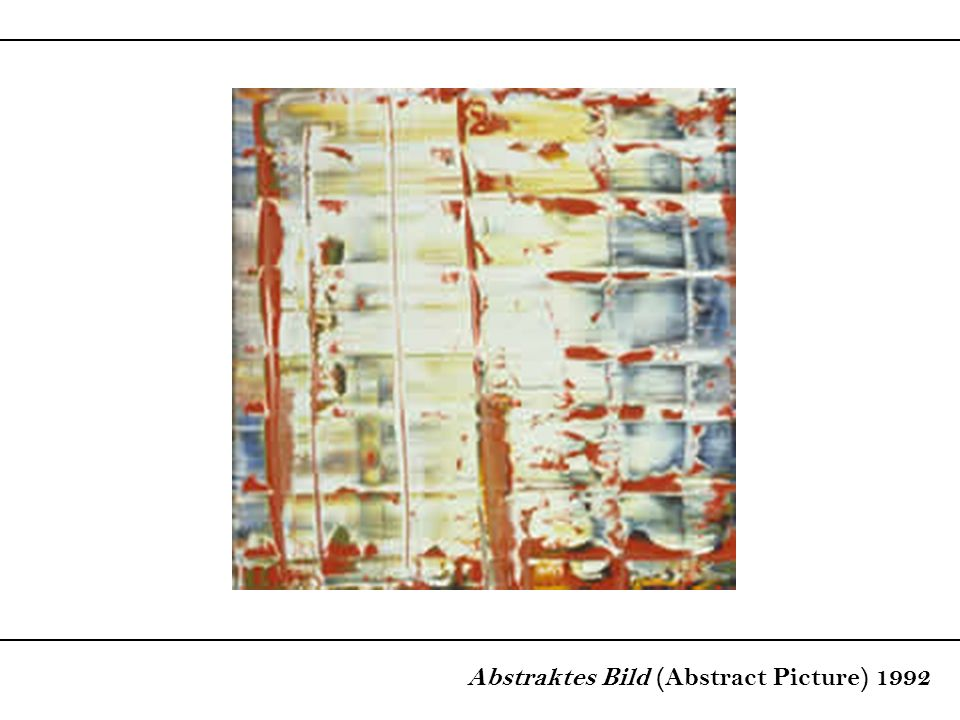 Abstraktes Bild (Abstract Picture) 1992