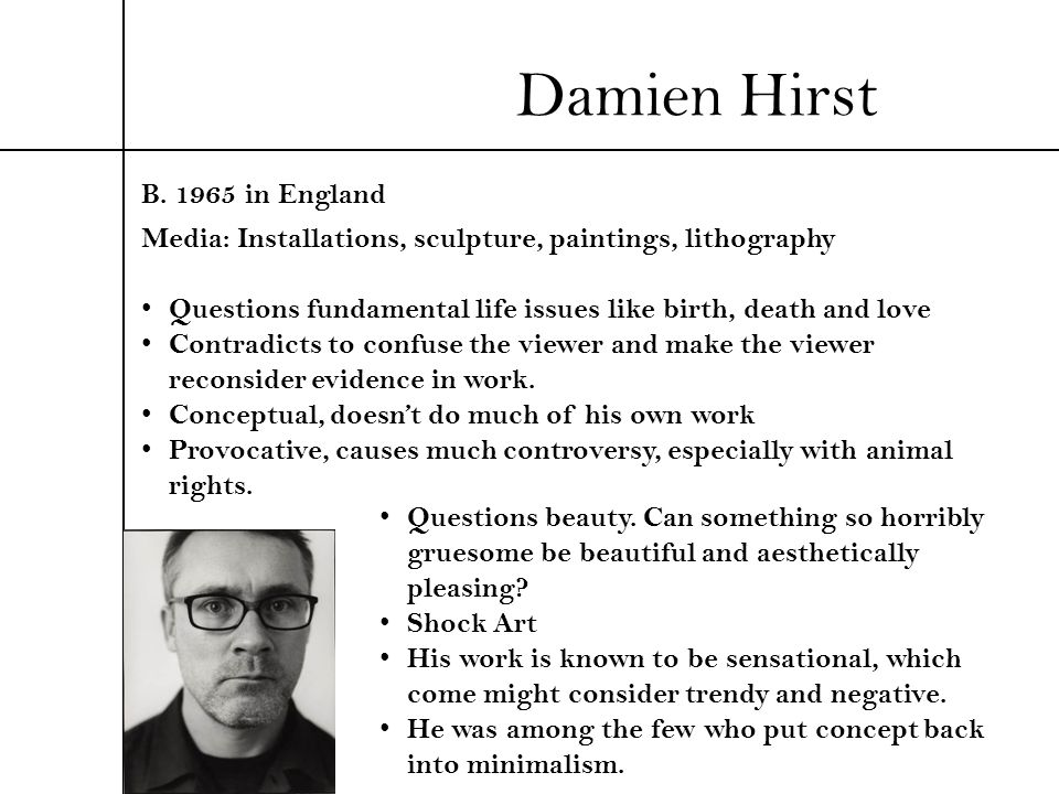 Damien Hirst B in England
