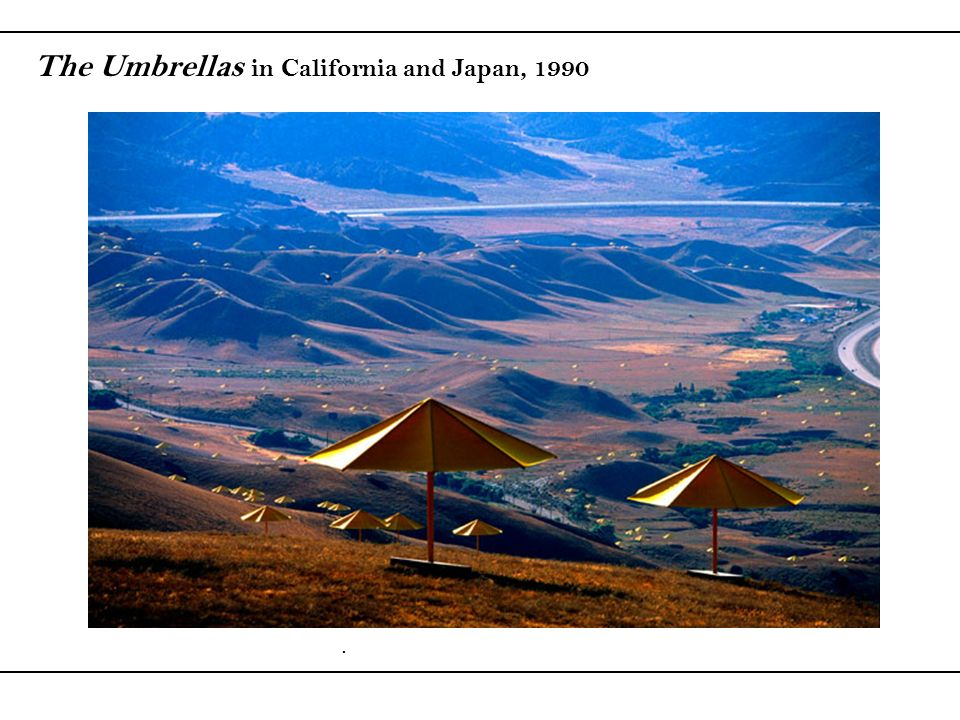 The Umbrellas in California and Japan, 1990