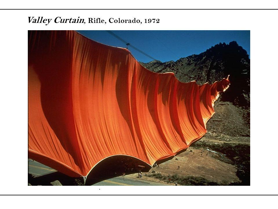 Valley Curtain, Rifle, Colorado, 1972