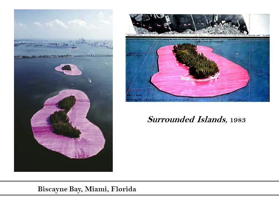 Surrounded Islands, 1983 Biscayne Bay, Miami, Florida