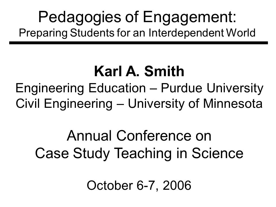 Pedagogies of Engagement: Preparing Students for an Interdependent World