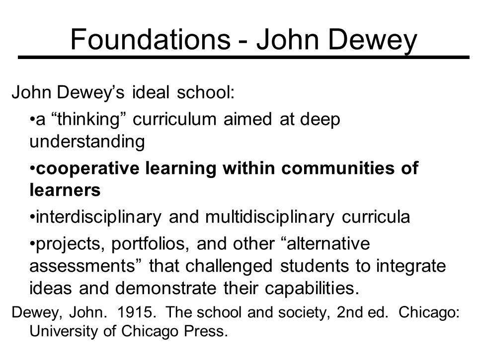 Foundations - John Dewey