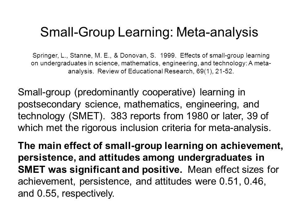 Small-Group Learning: Meta-analysis