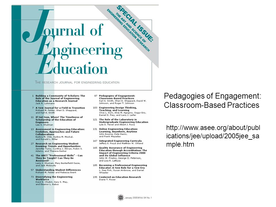 Pedagogies of Engagement: Classroom-Based Practices