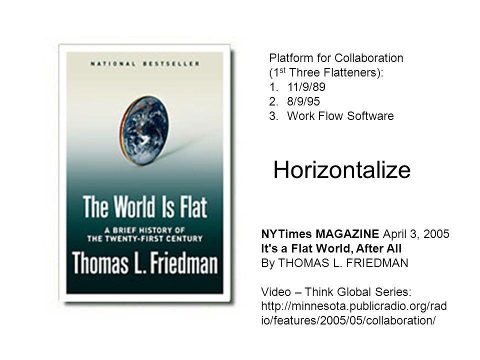 Horizontalize Platform for Collaboration (1st Three Flatteners):
