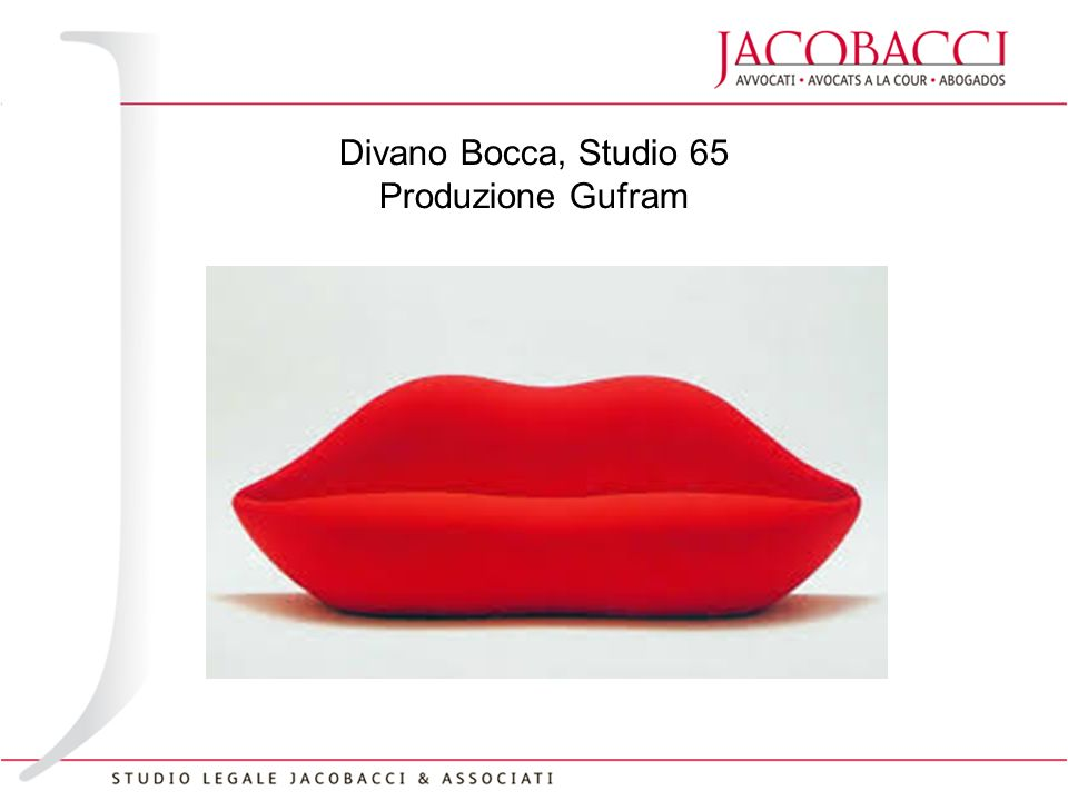 The fine line between art and design ppt video online for Divano bocca